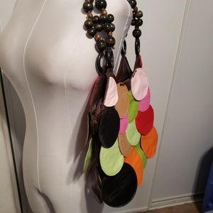 Leather colored Dot shoulder bag